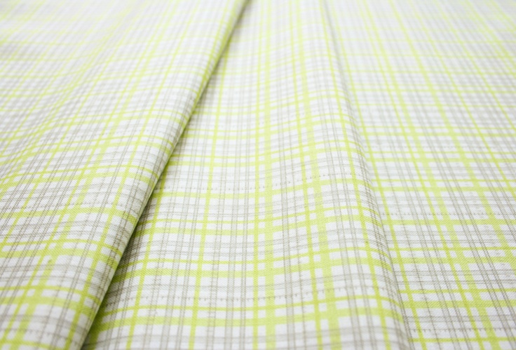 Anthology Fabrics Lullaby Baby PR558 Check fluorescent green