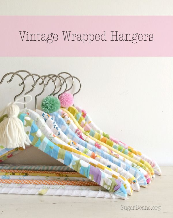 The Creative Collection Link Party | Vintage Wrapped Hangers | Sugar Beans