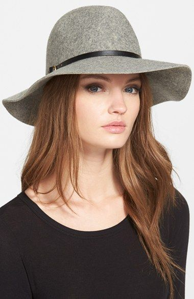 Hinge Faux Leather Trim Wool Felt Panama Hat available at #Nordstrom