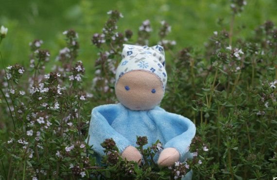 Thyme waldorf doll  aromaterapeutic toy from blue by ElodeaToys