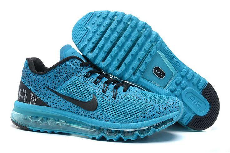 Nike Air Max 2013 CAMO Männer Schuhe Blau Schwarz