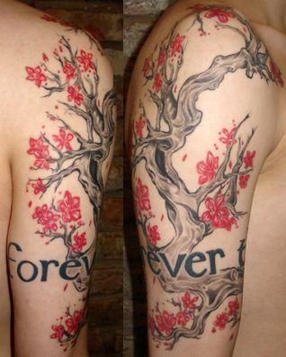 die besten 25 kirschbaum tattoos ideen auf pinterest. Black Bedroom Furniture Sets. Home Design Ideas