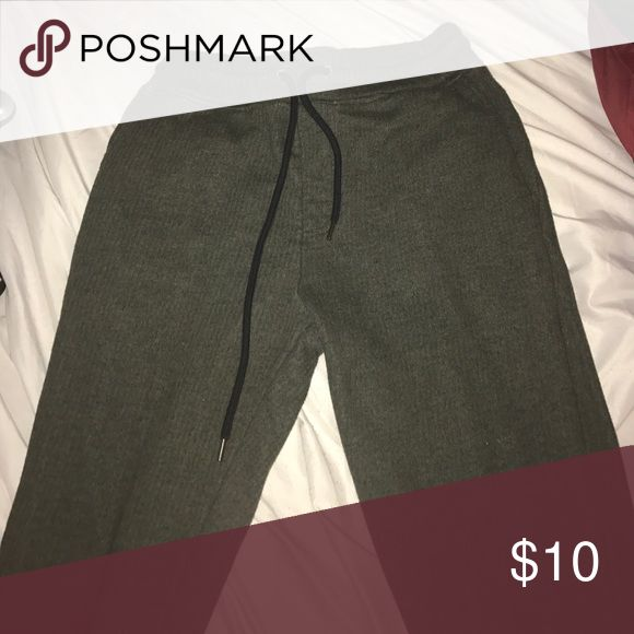 Olive Green Forever 21 Joggers olive green slim fit joggers from forever 21 only worn 2X , Comfortable fit and comes from smoke & pet free home. Can fit a M or L in women. Price is solid Forever 21 Pants Sweatpants & Joggers