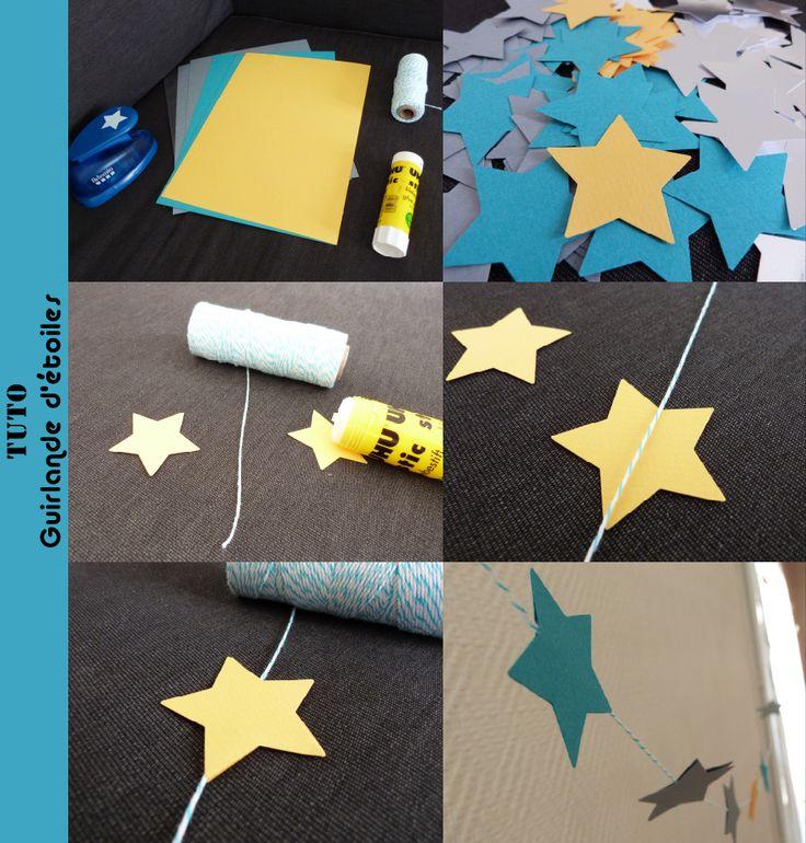 Tuto guirlandes étoiles en papier #DIY