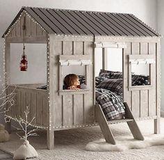 Kinderbett baumhütte  Die besten 25+ Kinderbett baumhaus Ideen auf Pinterest   Hochbett ...