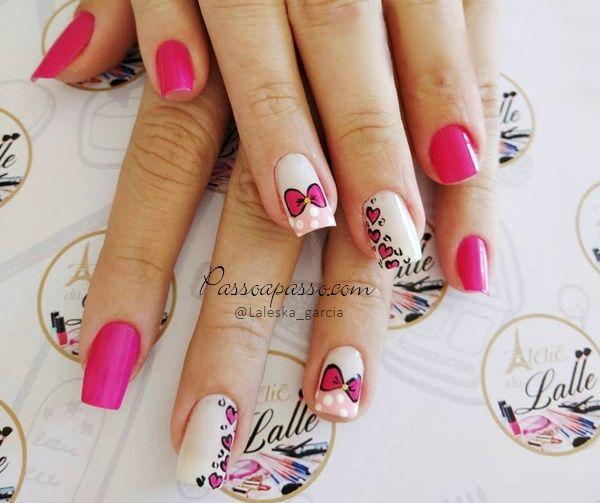Como fazer laço na unha passo a passo: Quer conferir algumas alternativas de nail art com lacinhos para suas unhas? Então vamos lá: