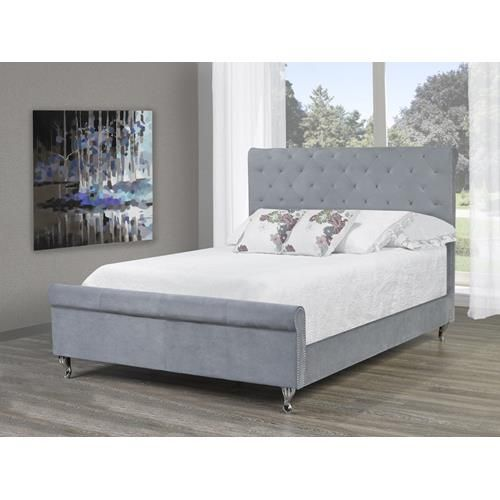 candace basil velvet queen platform bed frame grey beds bed frames