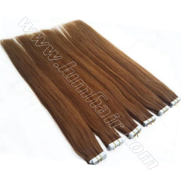 Tape hair extensions for sale last 6-9 months and are reusable.We offer good seamless hair extensions with good grade .Shop at www.lumhair.com
