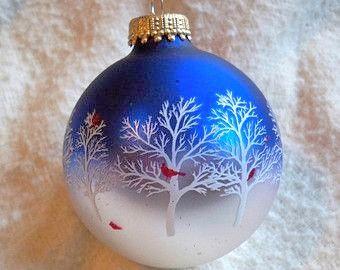 winter cardinal stencil Krebs Christmas Ornament httpswww.etsy.comshopAvaricia