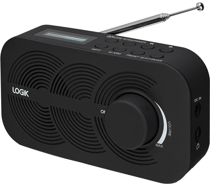 LOGIK  LRBDAB14 Portable DAB Radio - Black, Black Price: £ 29.99 Enjoy your favourite radio stations in superior digital quality on the ultra portable Logik LRBDAB14 Portable DAB Radio . DAB The DAB radio uses a digital signal to pick up stations - this means the quality is immensely improved and your choice greatly expanded. Stations sound crisp, clean and clear for maximum radio enjoyment....