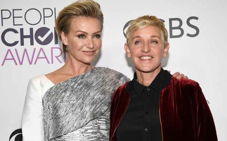 Australian American Model Portia De Rossi Married Twice Celebrating 10 Years Of Wedding R Ellen And Portia Ellen Degeneres And Portia Ellen Degeneres And Wife