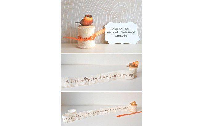 """""""Um passarinho me contou que você vai ser vovó!"""", diz esse mimo que pode ser dado de presente aos futuros avós. Foto: Reprodução"""