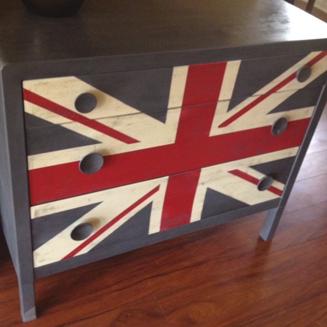 $5 garage sale chest + paint + inspiration from Pinterest = pure awesome.
