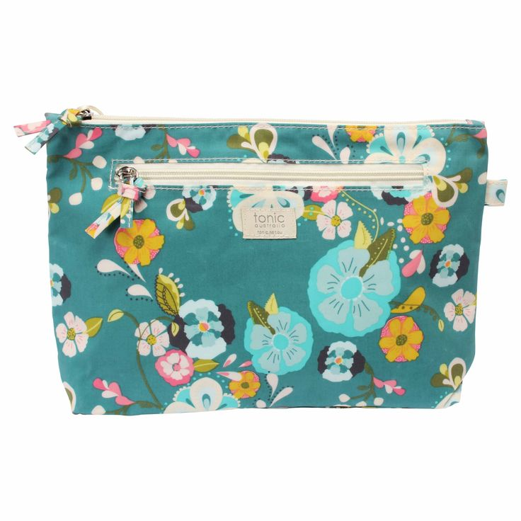 Jade Garden Large Cosmetics Bag #cosmetics #bag #bathroom #beauty