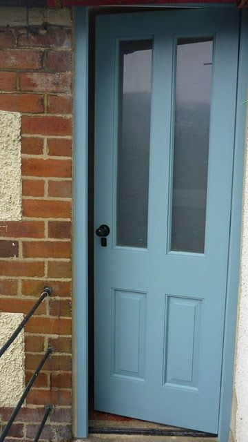 Brighten up your doorway with a splash of stone blue