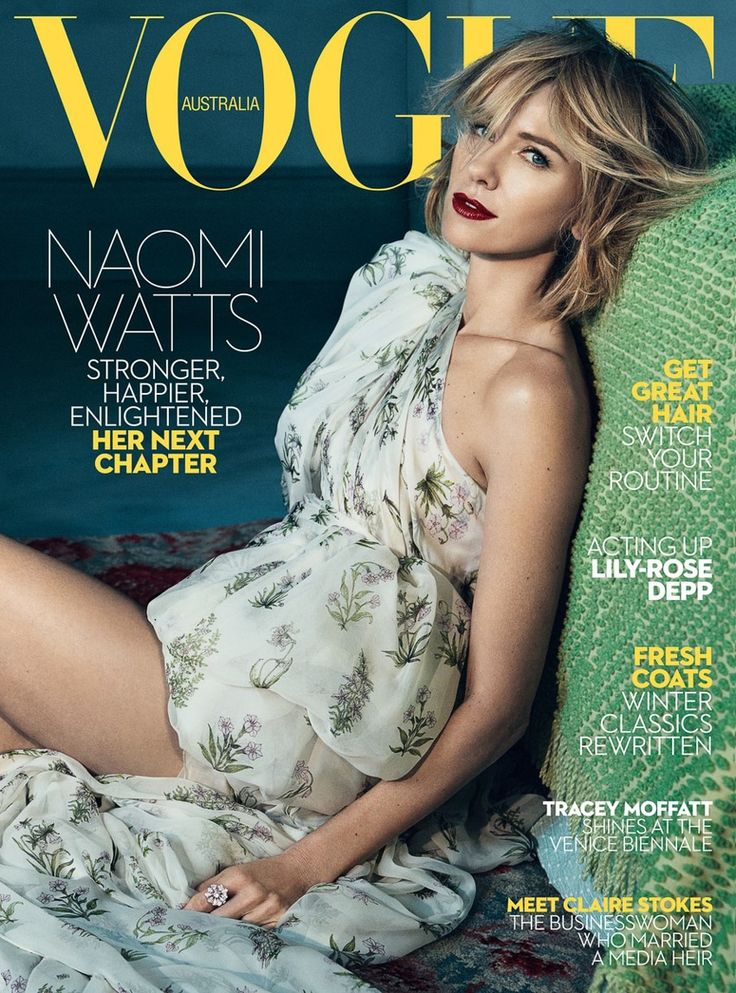 New Vogue Australie Juin 2017 Naomi Watts par Emma Summerton