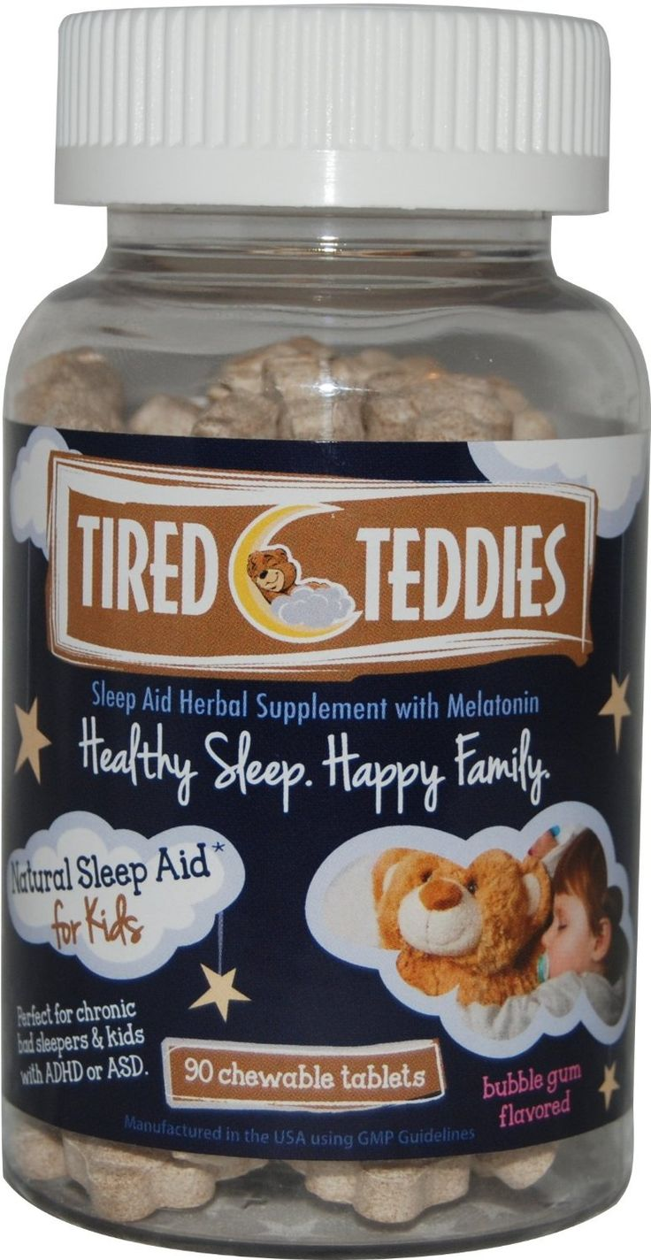 Amazon.com: Tired Teddies Natural Sleep Aid for Kids -- Home Size (90 co.): Health & Personal Care