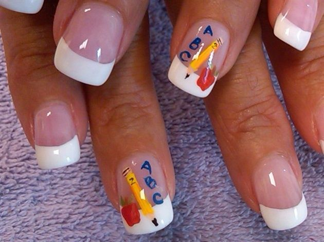 abc 123 by aliciarock - Nail Art Gallery nailartgallery.nailsmag.com by  Nails Magazine - Top 25+ Best School Nail Art Ideas On Pinterest Nails For Kids