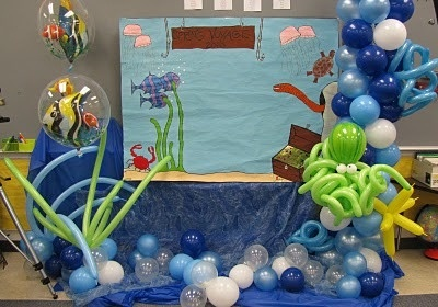 26 best kindergarten prom images on pinterest for Water balloon christmas decorations