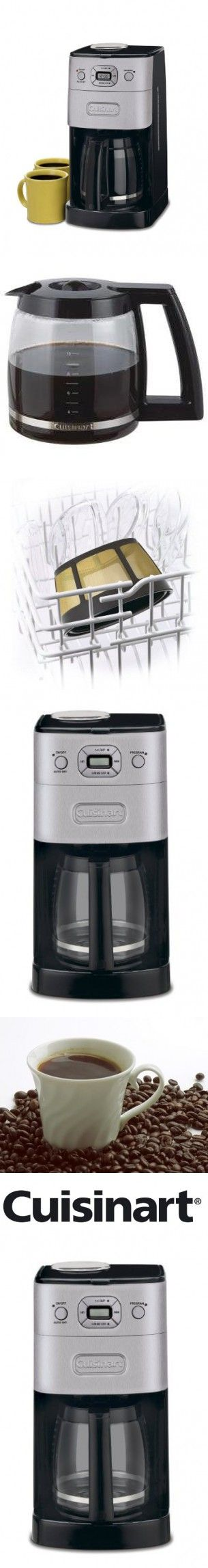 Cuisinart Grind-and-Brew 12-Cup Automatic Coffeemaker, Grinds Coffee Beans Fresh for Brewing, Features a 12 Cup Glass Carafe with Pause and Brew Feature and Adjustable Shutoff, has 1-4 Cup Brewing Feature, Includes Gold Tone Charcoal Water Filter