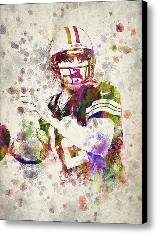 Aaron Rodgers Canvas Print / Canvas Art By Aged Pixel