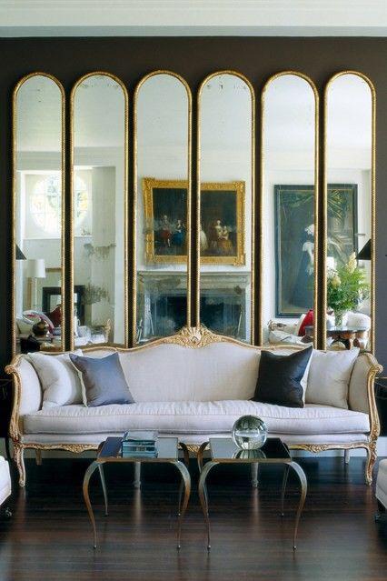 Винтажные зеркала от пола до потолка