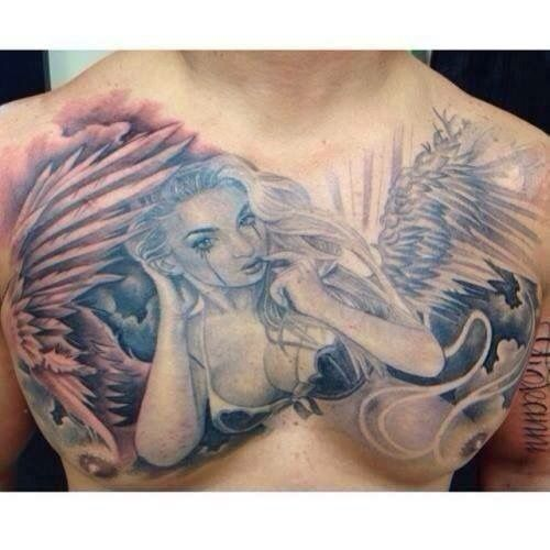 Awesome sexy angel tattoo for Sexy angel tattoo