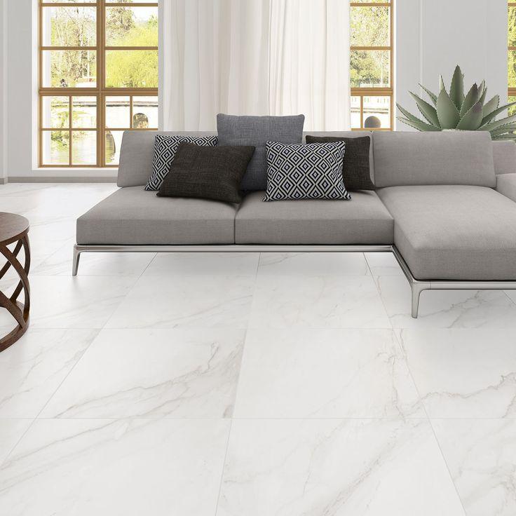 Oporto Carrara Glazed Porcelain Floor Tile Stylish Living Room