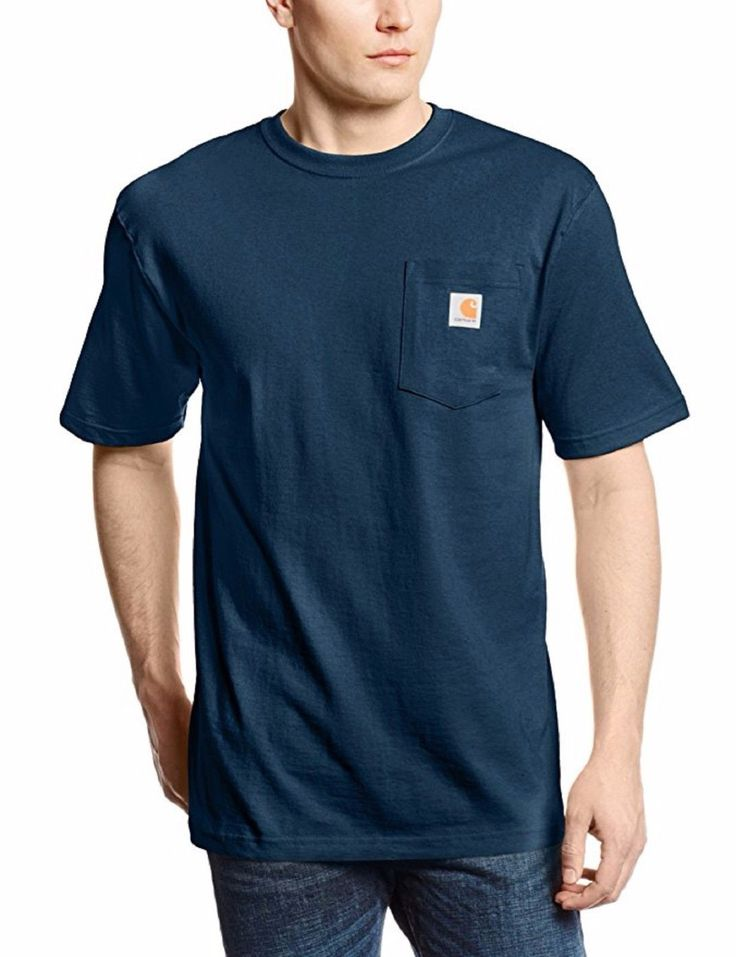 Carhartt Mens Size Small Workwear Short Sleeve T-Shirt, Navy