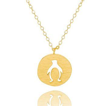 DIANSHANGKAITUOZHE 2016 Boho Jóias Collier Aço Inoxidável Minúsculo Bonito Recorte Pinguim Charme Mulheres Colar de Ouro Gargantilha De Prata
