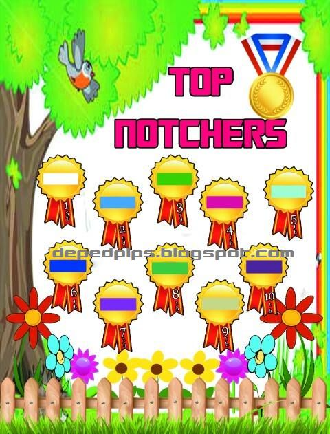 Top Notchers Board Printable Sample     Printable Top Notchers Board for up coming new school year, Click Download Button below to Downl...