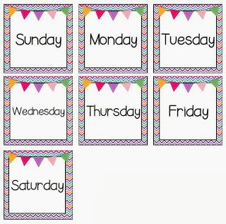 Day Seven of the Ten Days of Giveaways: {FREEBIE} Calendar Pocket Chart Days of…