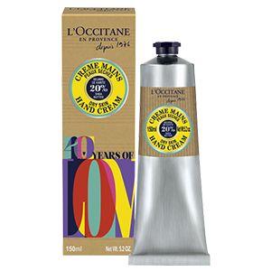 La Crème Mains Karité 150ml se pare dun design coloré pour célébrer l'anniversaire des 40 ans de la marque.Enrichie de 20% en beurre de karité, cette