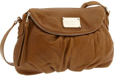 MARC BY MARC JACOBS 'Classic Q - Natasha' Crossbody Flap Bag in Caramel w/ silver hw