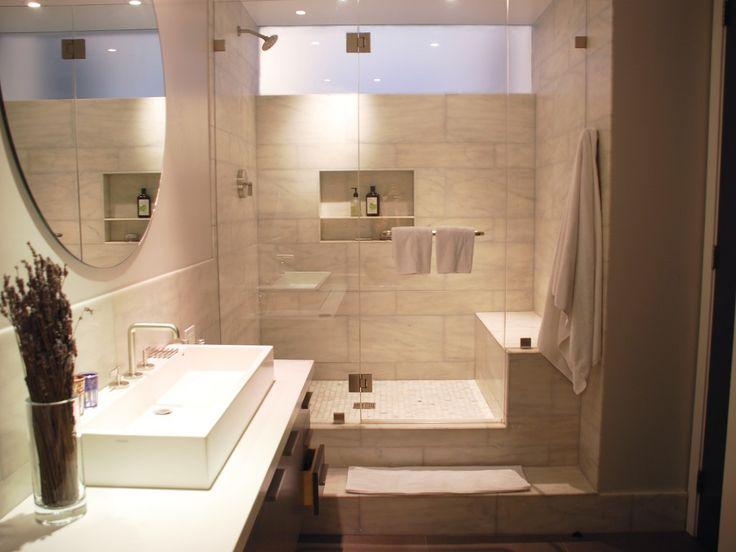 Gorgeous landmark tribeca loft window in shower master for New york sash bathrooms