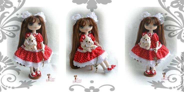Купить Сашенька - ярко-красный, кукла, текстильная кукла ...