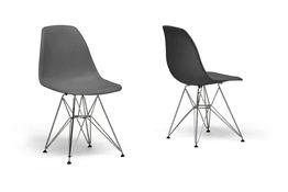 Baxton Studio Grey Plastic Side Chair (Set of 2) Baxton Studio Baxton Studio Beige Plastic Side Chair (Set of 2), wholesale furniture, restaurant furniture, hotel furniture, commercial furniture