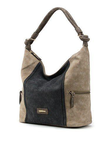 Accessoires, Damen Handtasche, Taupe Braun