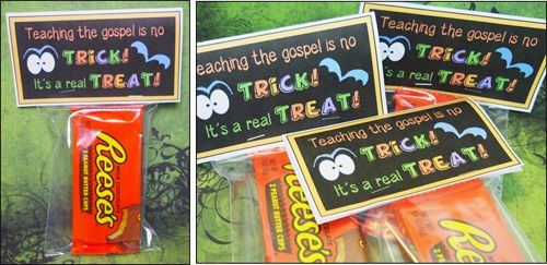 Fun missionary trick or treating care package idea! Free printable.