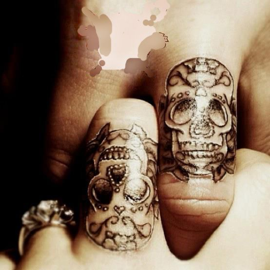 small tattoo. Calavera mexicana.