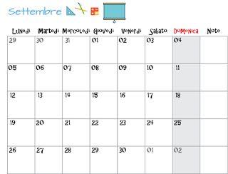 Nata disorganizzata: planner mensile Settembre 2016