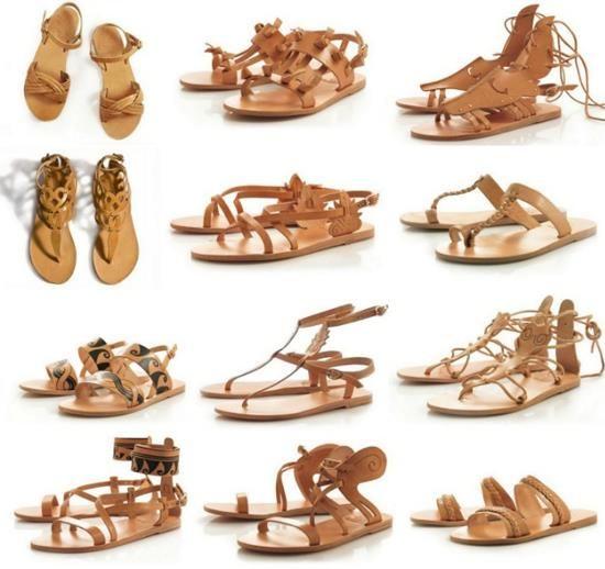 Женская греческая обувь