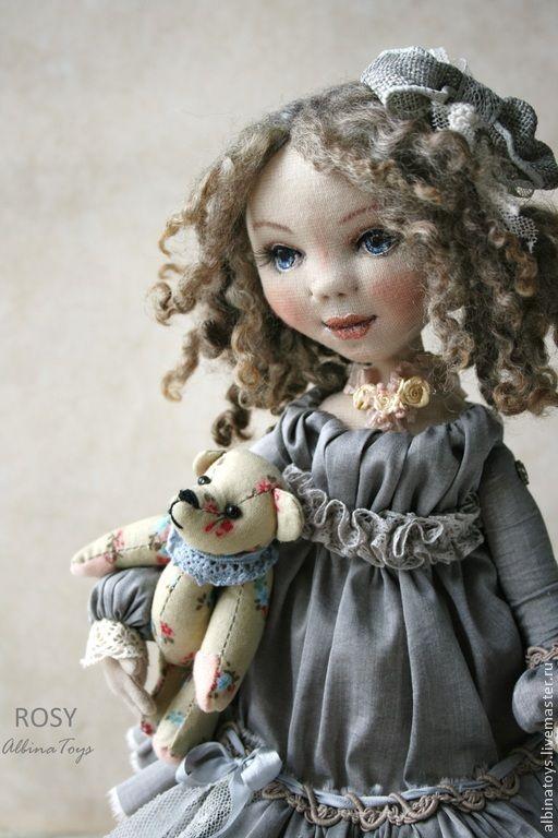 Купить Рози.Текстильная коллекционная кукла. Бохо стиль - бежево-коричневый, кукла