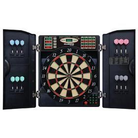 E-Bristle 3 Piece 1000 LED Electronic Dartboard Cabinet Set