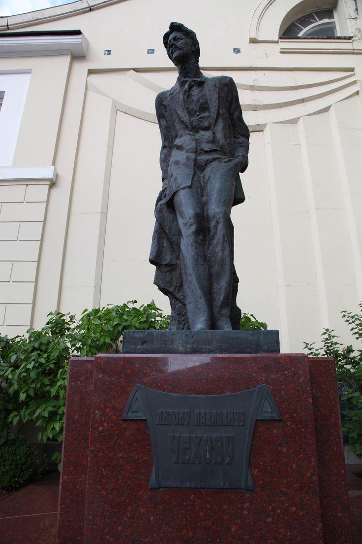 Moskova Anton Çehov heykeli