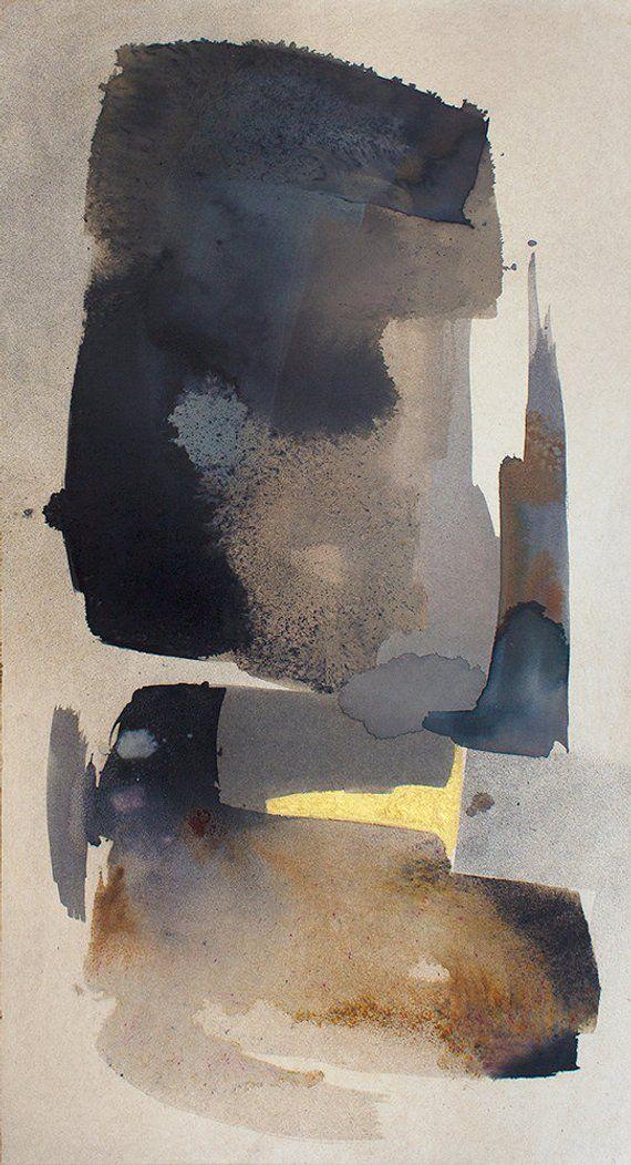 Diptychon Aquarell Original Kunst Abstrakte Malerei Etsy