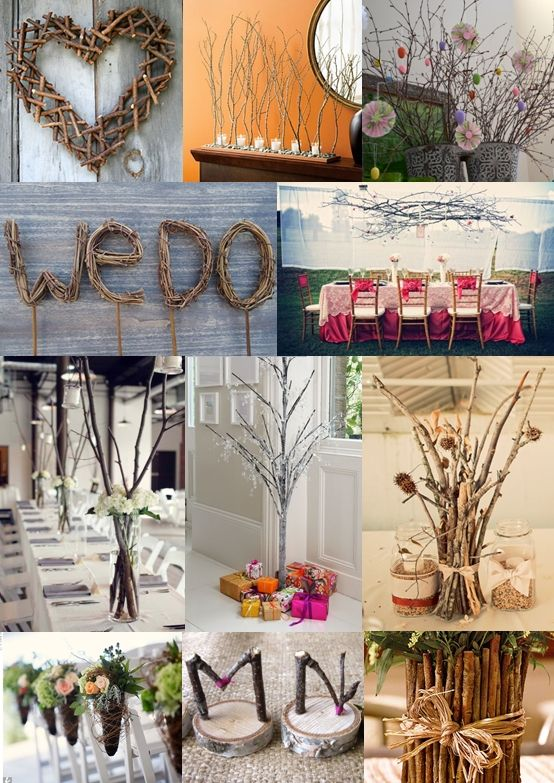 64 best willow everywhere images on pinterest floral twig wedding decoration ideas from the wedding community junglespirit Choice Image