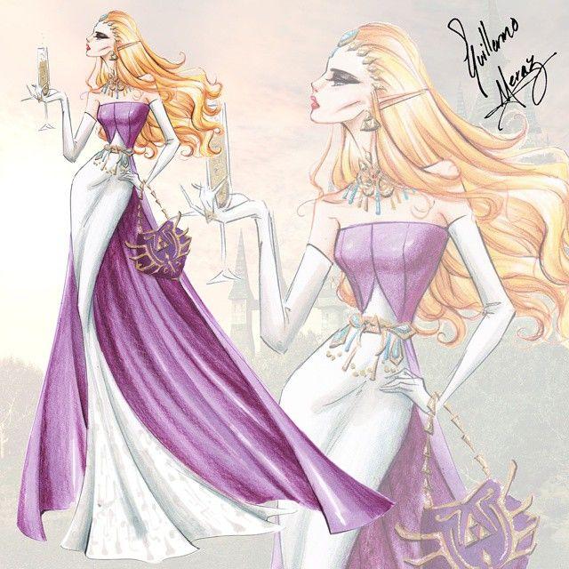 "The Nintendo Princess Fashion Collection by Guillermo Meraz. ""Zelda"" ."