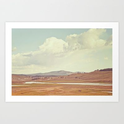 Summer+Landscape+Art+Print+by+Kurt+Rahn+-+$16.00