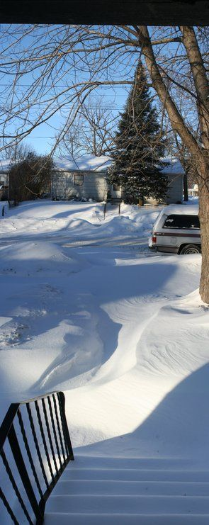 A recent snowfall outside my door on So First Ave. in Albert Lea, Mn.